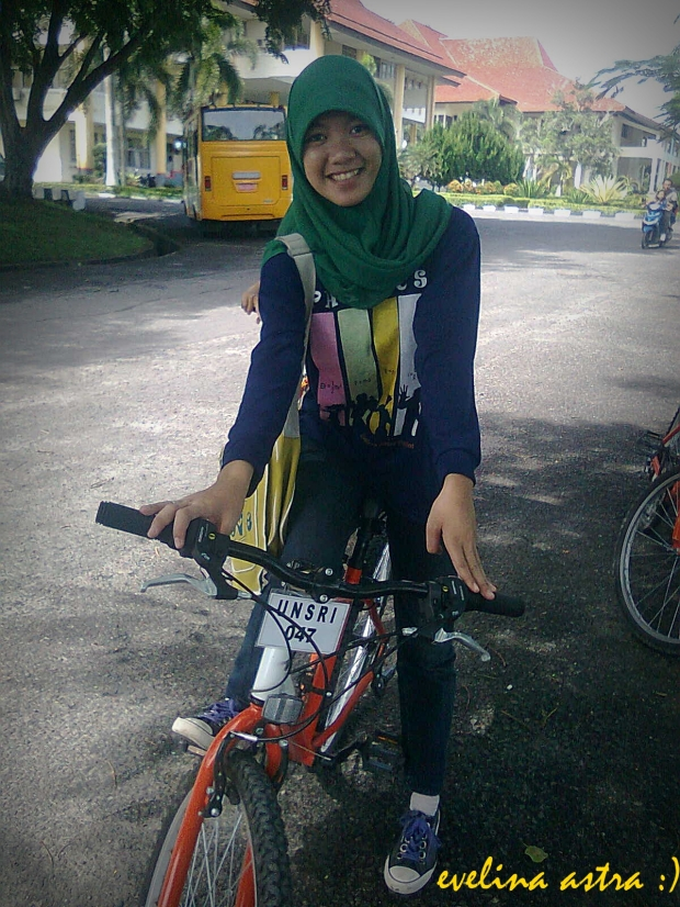 I'm as a biker at campus! :D